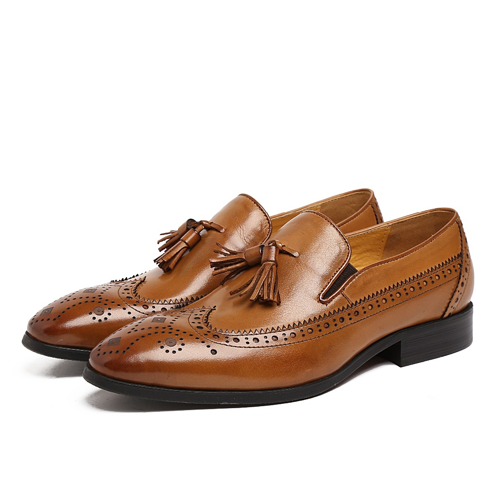 Brown Leather Loafer Shoes
