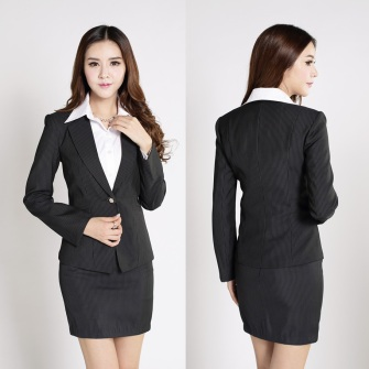 Formal-Female-Skirt-Suits-Women-Buseinss-Suits-Work-Wear-Clothes-Sets-Black-White-Striped-Blazer-Ladie